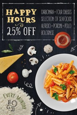 happy hours for pasta