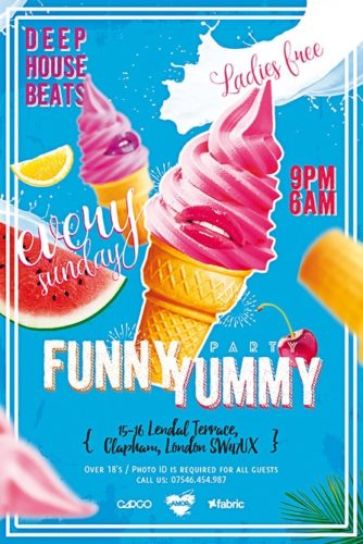 ice cream party free flyer