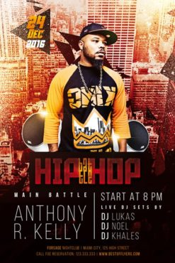 hip-hop style man on urban background