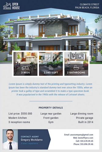 photos of house on flyer template